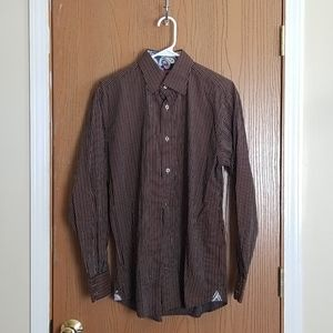 Lucklana Brown Paisley Long Sleeve Button Down M